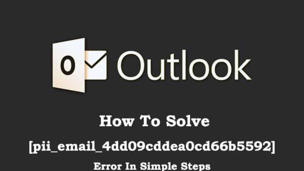 Fix [pii_email_4dd09cddea0cd66b5592] error